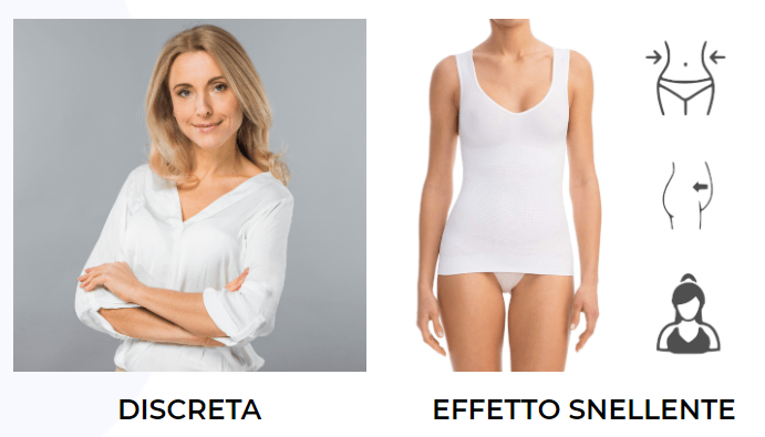 Bellyfree Woman, dieta, dimagrire, perdere peso, Silhouette, canotta dimagrante